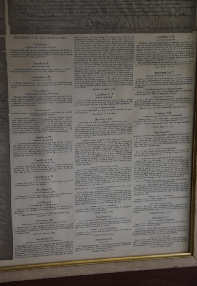 NC STATESMAN'S US FRAMED ANTIQUE CONSTITUTION - 8