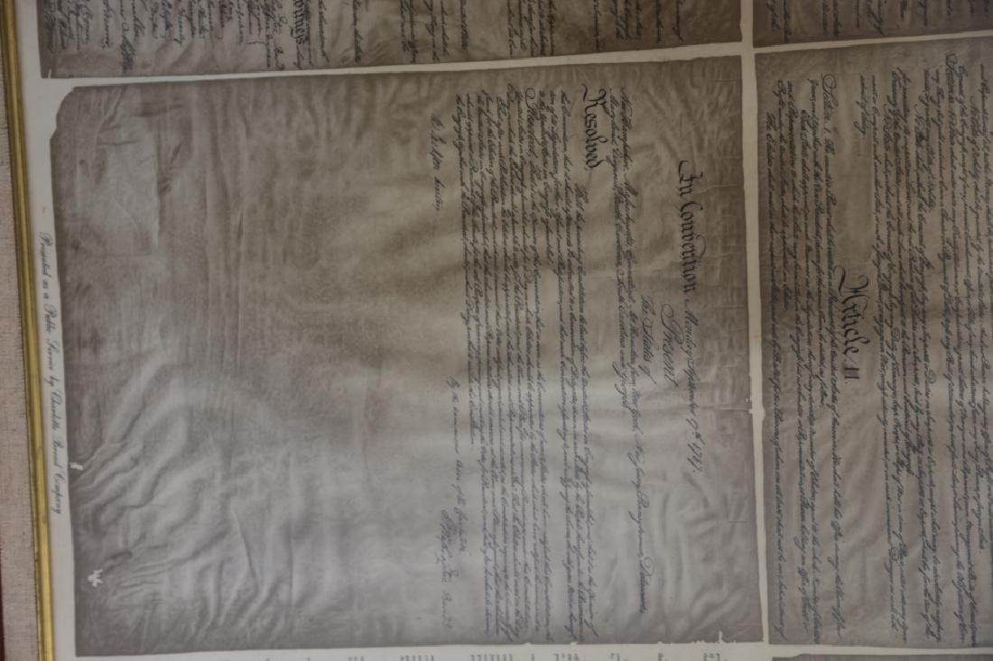 NC STATESMAN'S US FRAMED ANTIQUE CONSTITUTION - 9