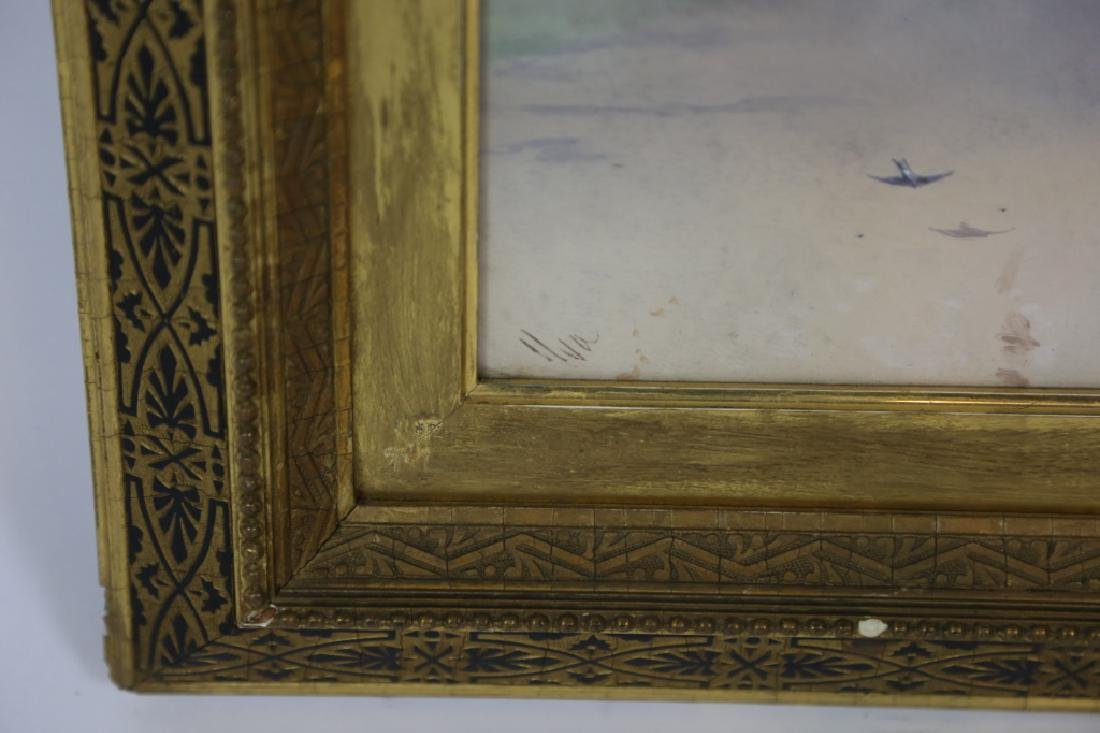 ANTIQUE REVERSE PAINTING ON GLASS - 4