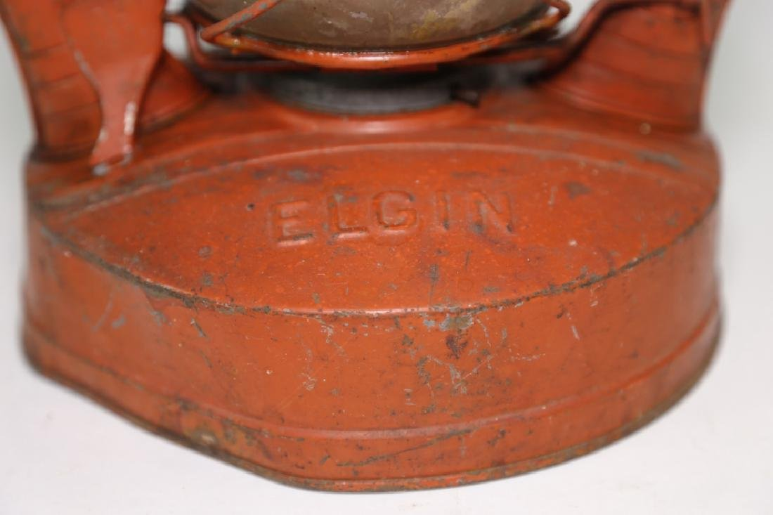 ELGIN ANTIQUE RAILROAD OIL LANTERN - 4