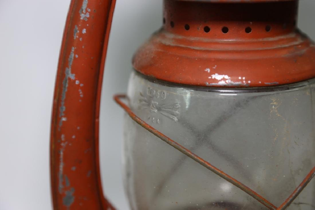 ELGIN ANTIQUE RAILROAD OIL LANTERN - 5