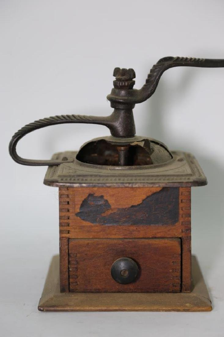 THE CHAS. PARKERS, MERIDEN CONN COFFEE GRINDER - 2