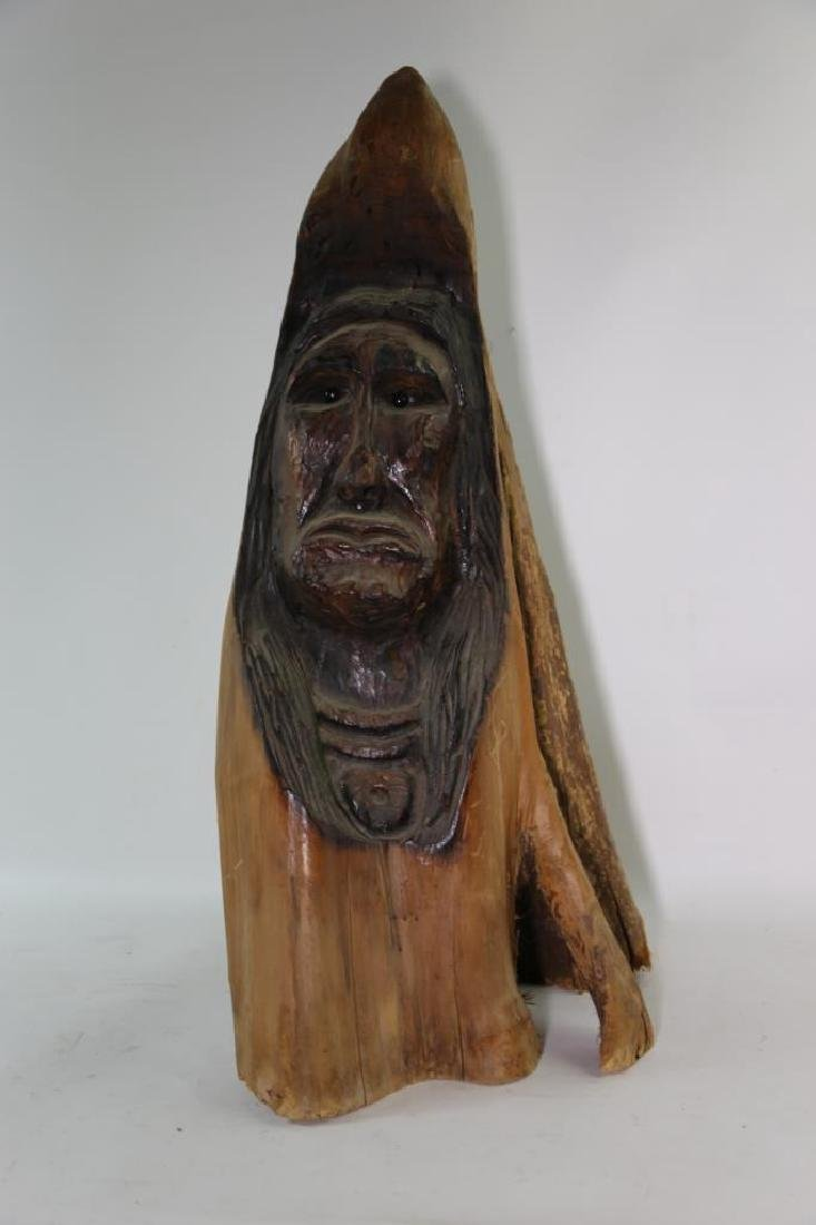 NATIVE AMERICAN BUST CARVING - 5
