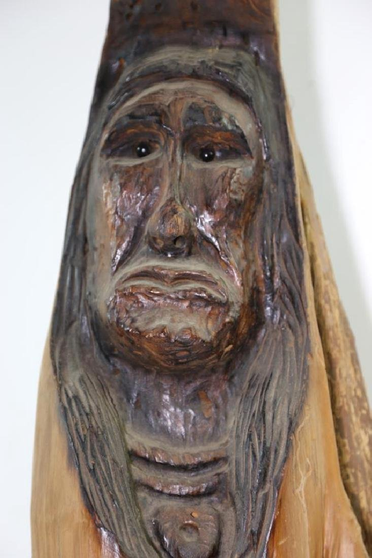 NATIVE AMERICAN BUST CARVING - 6
