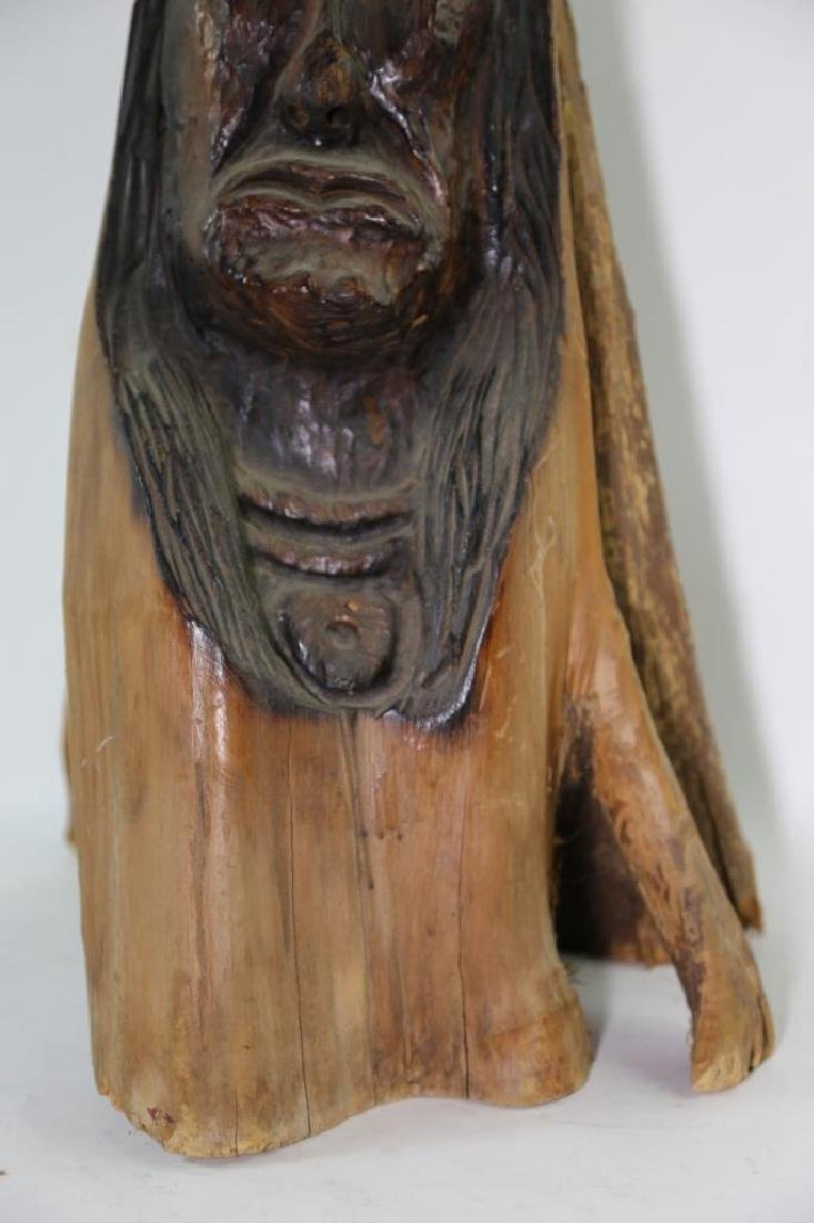 NATIVE AMERICAN BUST CARVING - 7