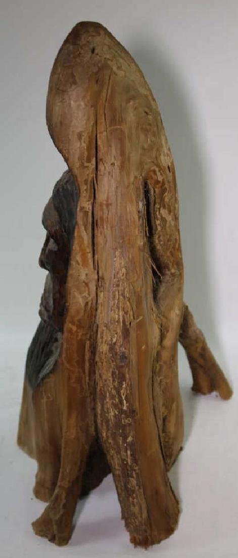 NATIVE AMERICAN BUST CARVING - 8