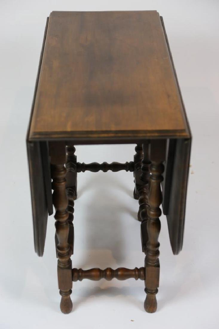 AMERICAN ANTIQUE GATE LEG TABLE - 2