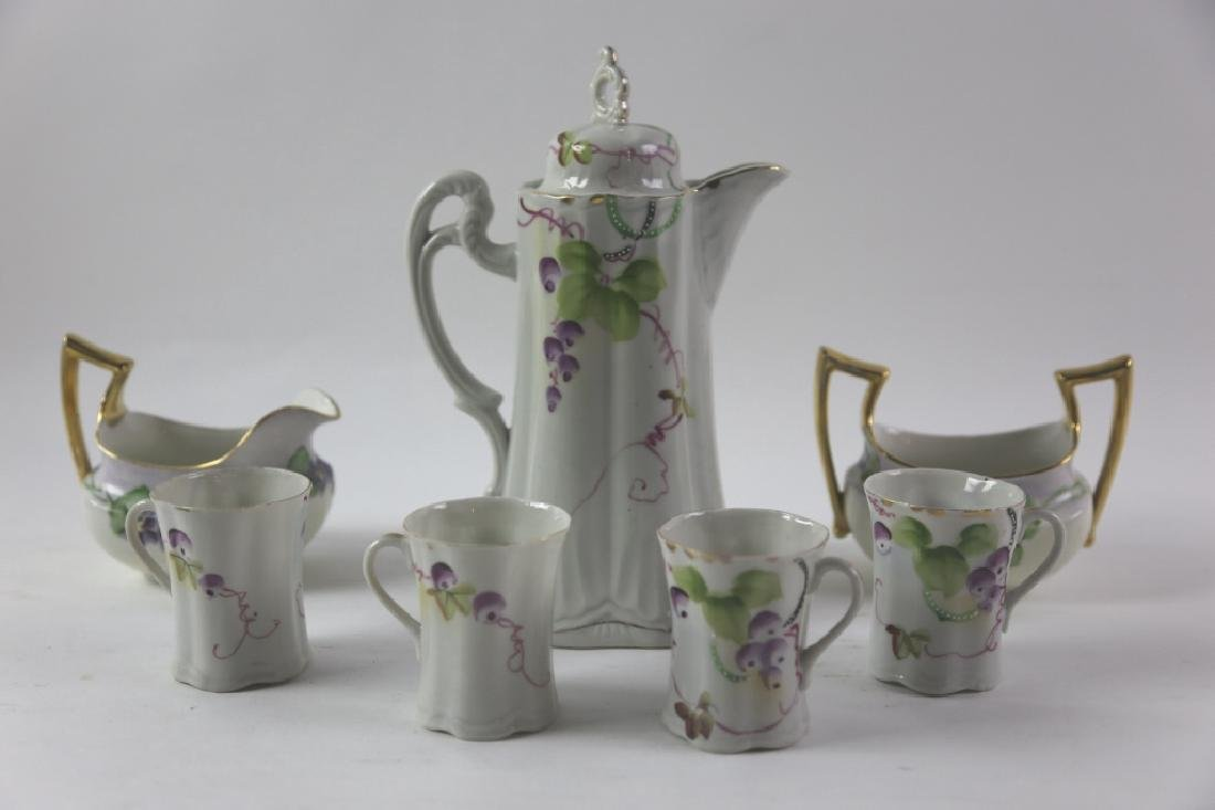 FRENCH LIMOGE PORCELAIN TEA  SERVICE