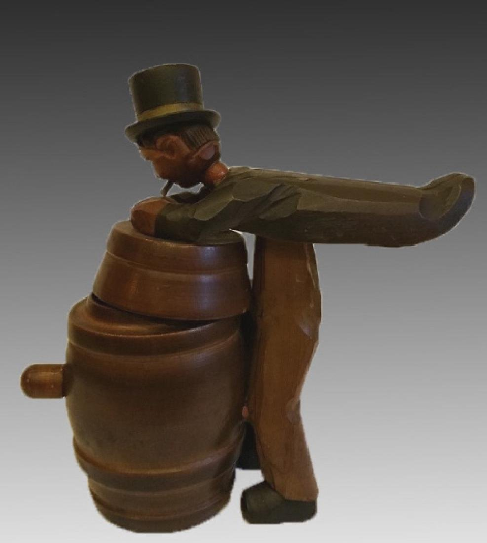 CARVED TRAVELING MAN WITH MUSIC SUITCASE - 3