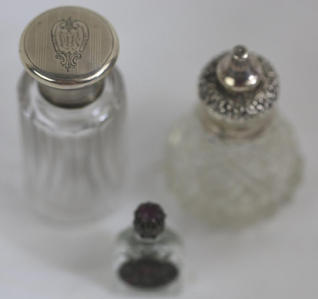 STERLING SILVER ANTIQUE LADIES VANITY GROUPING - 3