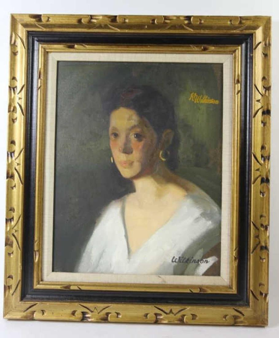 PORTRAIT OF A LADY ON CANVAS