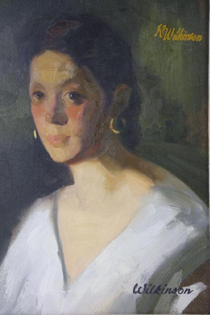 PORTRAIT OF A LADY ON CANVAS - 2