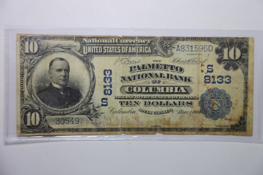1900 COLUMBIA SC $10 S8133 PALMETO NATIONAL BANK - 2