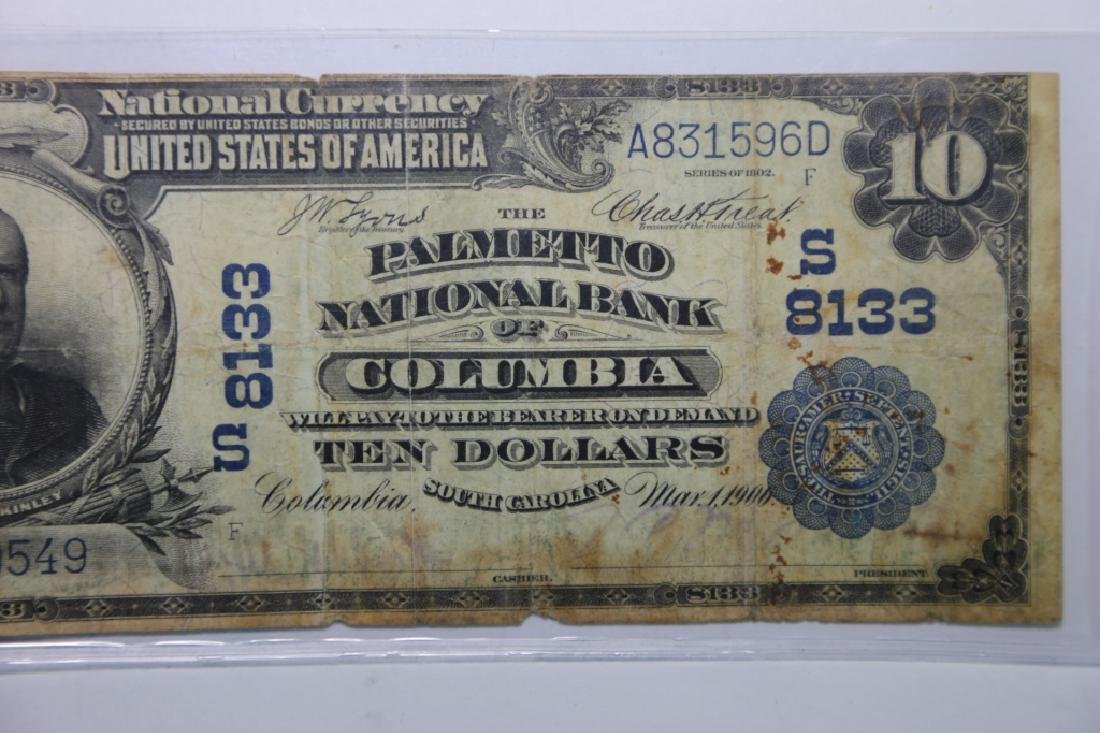 1900 COLUMBIA SC $10 S8133 PALMETO NATIONAL BANK - 3
