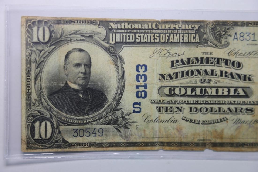1900 COLUMBIA SC $10 S8133 PALMETO NATIONAL BANK - 4