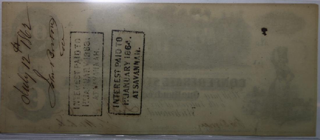 1862 CONFEDERATE STATES $100 RICHMOND VA  NOTE - 6