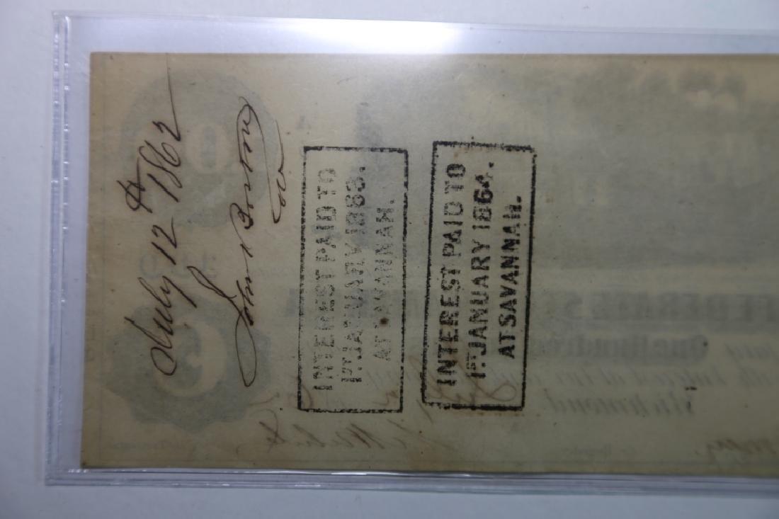 1862 CONFEDERATE STATES $100 RICHMOND VA  NOTE - 7
