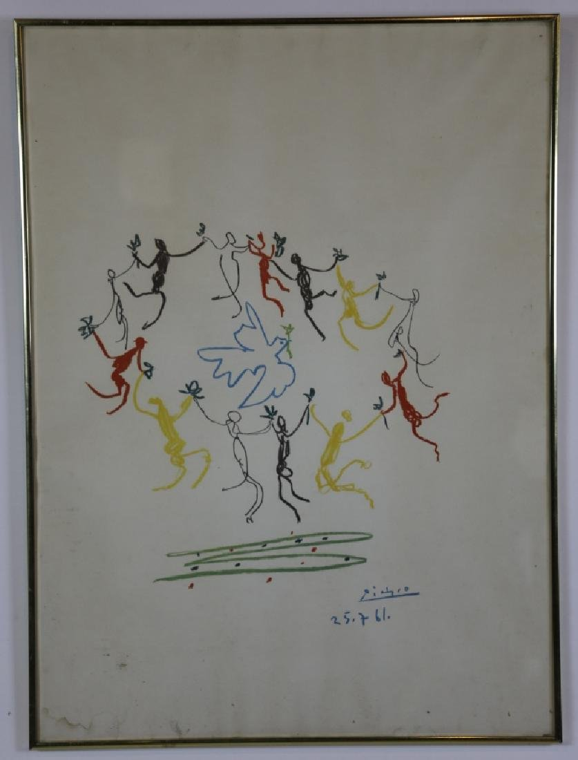PABLO PICASSO EARLY 1961 WORK ON PAPER