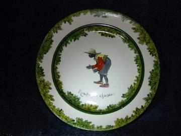 422: Royal Doulton Black Cricketer Plate
