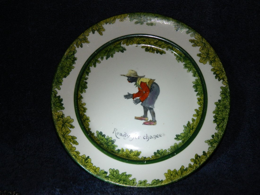 422: Royal Doulton Black Cricketer Plate