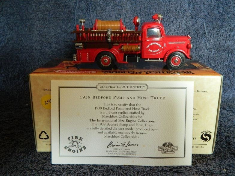3: Matchbox models of Yesteryear fire engine series 193