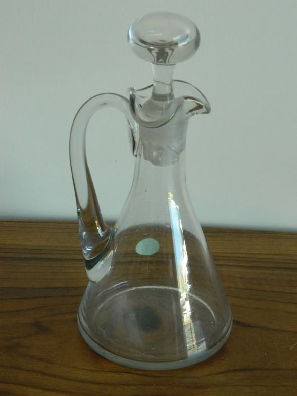Small glass decanter