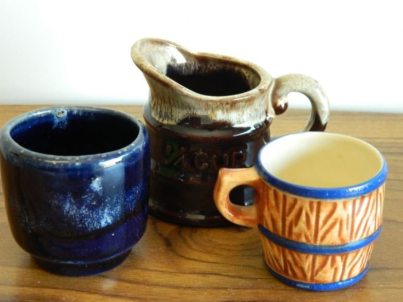 Three miniatures 1 jug 1 mug 1 cup