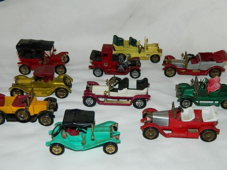 Ten Matchbox Models of Yesteryear cars