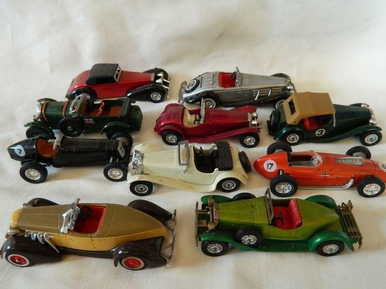 Ten Models of Yesteryear cars