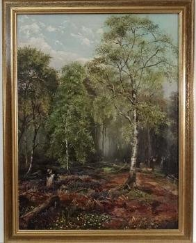Tony Martin 1897, Oil on canvas, Wood workers, Signed