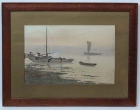 T Matamutsu (1900-?) Japanese, Watercolour and gouache,