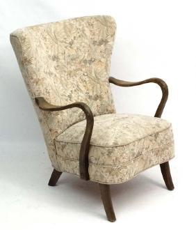 Vintage Retro : A Danish Art Deco open armchair with