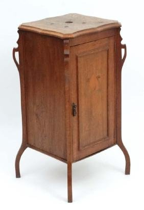 An early Art Nouveau Gramophone cabinet ( having old