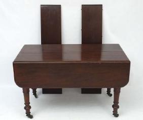 An early Victorian unusual mahogany extending Pembroke