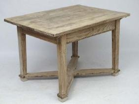 A late 19thC and later Hungarian oak kitchen table with