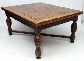 An unusual large oak drawer leaf table c.1928. 47 /2''
