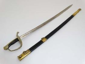 Militaria / Sword : A French Model 1854 Naval / Marine