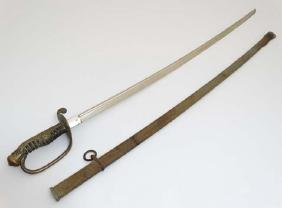 Militaria / Sword : An early 20thC Imperial Japanese