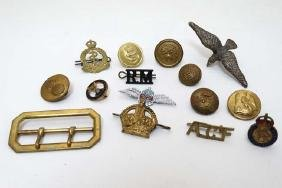 Militaria : A collection of military dress badges , to