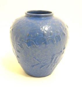 Scandinavian Pottery: A 1940s/50s Nittsjo pottery vase
