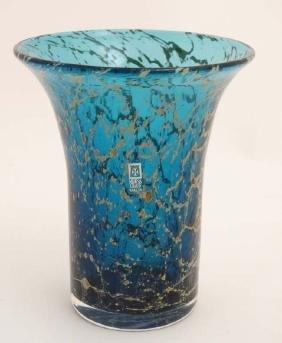 Mdina Glass Malta : A Mdina Studio Art Glass  vase with