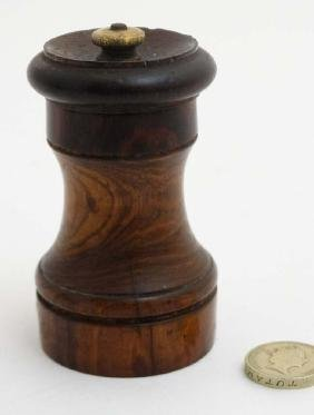 A treen pepper mill / grinder with Peugeot Freres