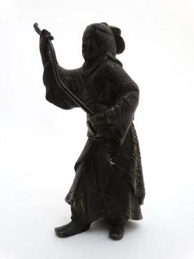 An 18thC / 19thC cast and patinated Oriental bronze
