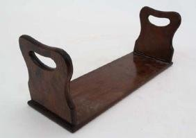 A Victorian colonial padouk wood folding book stand