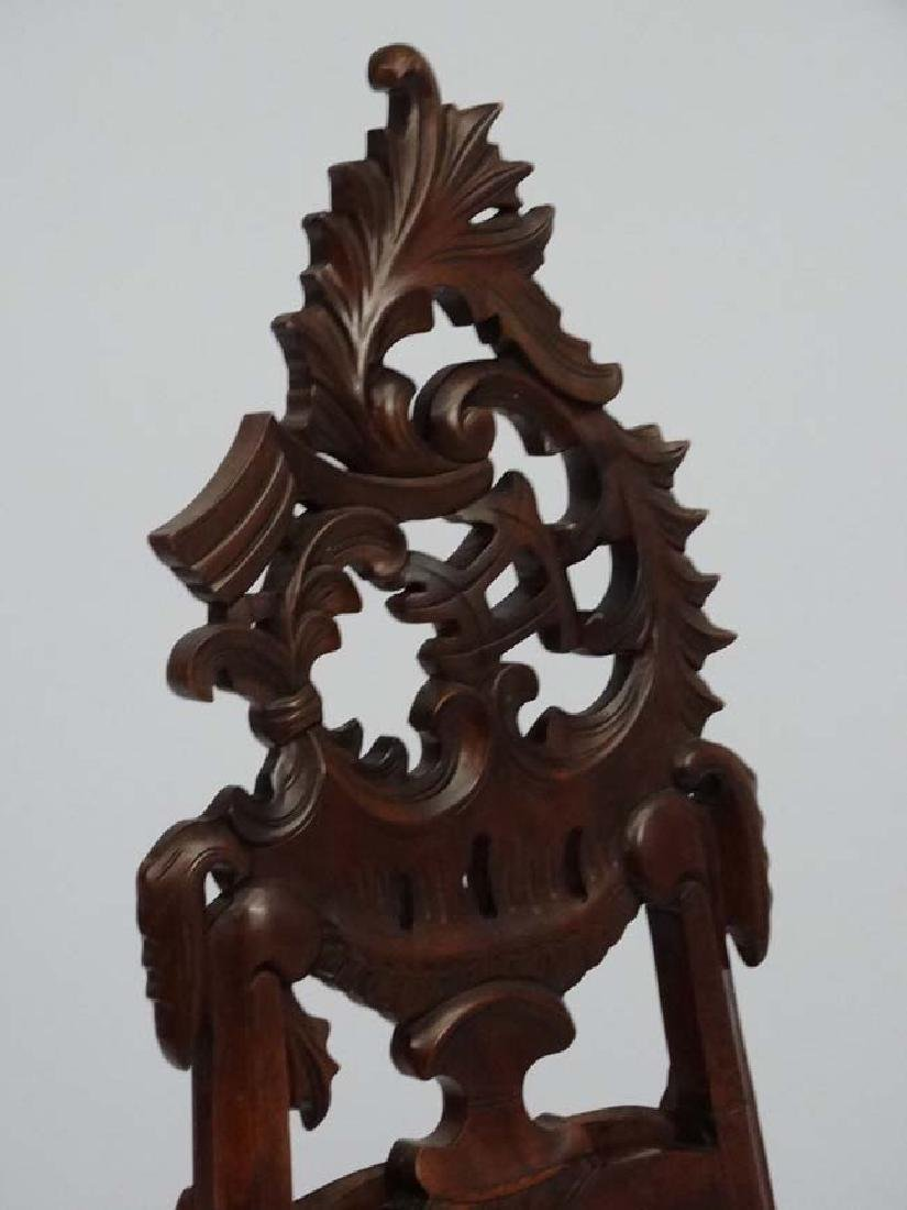 A mid - late 20thC carved wooden adjustable height - 4