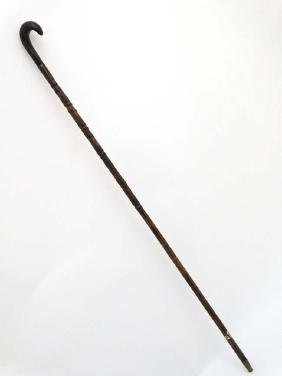 Walking Stick / Cane : an unusual Peacock Wood cane