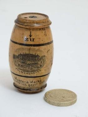 Sewing / Mauchline : A German barrel shaped advertising