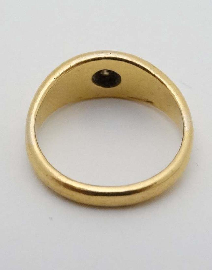 A 22ct gold ring set with white stone hallmarked - 3