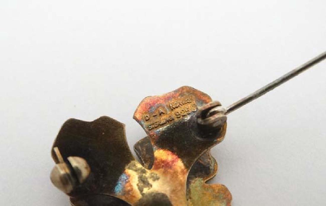 Scandinavian Jewellery : A silver gilt brooch formed as - 2