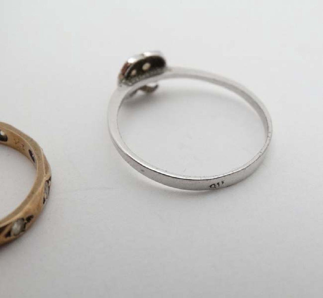 3 various rings to include 2 marked 9ct. (3) - 2